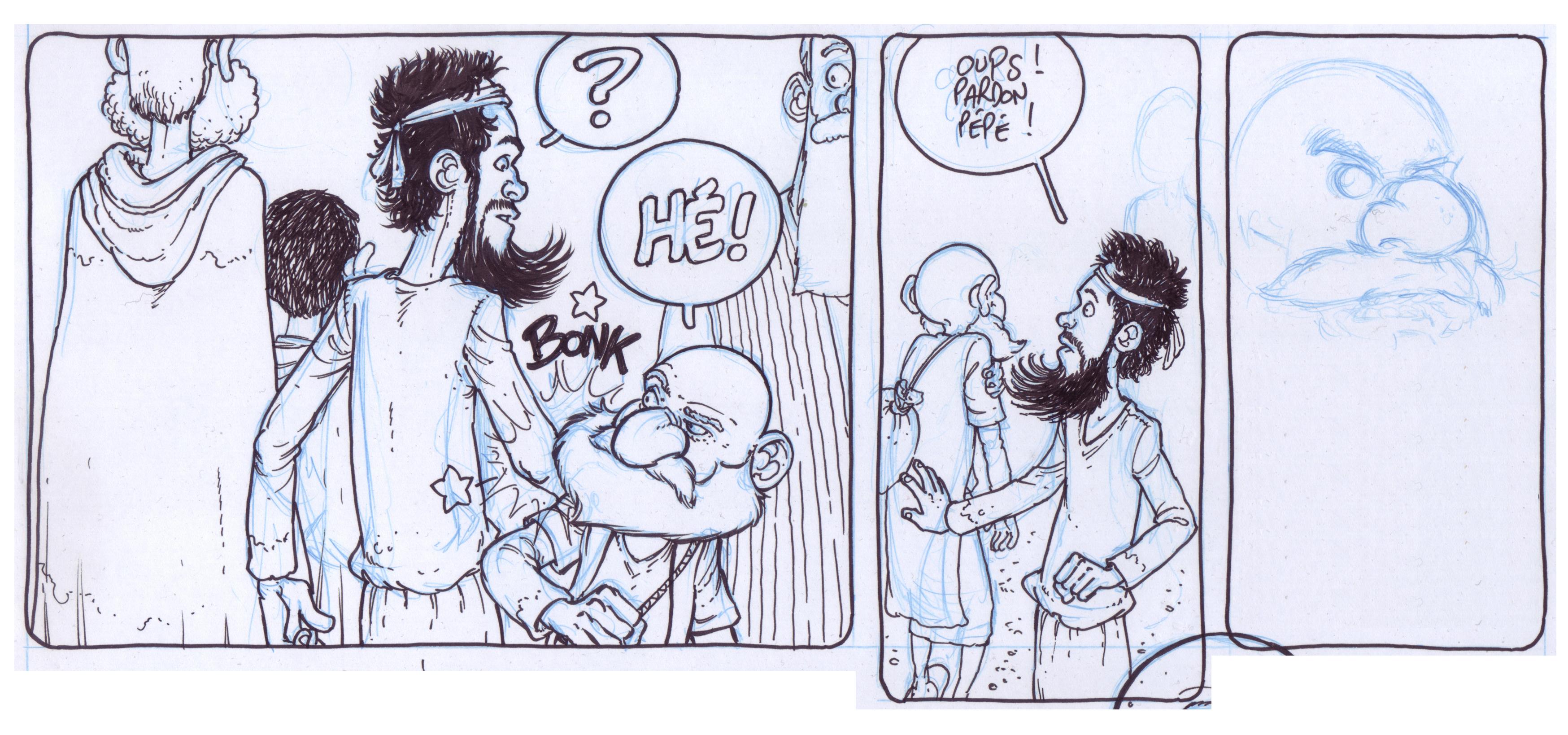 David Ratte - strip crayonné