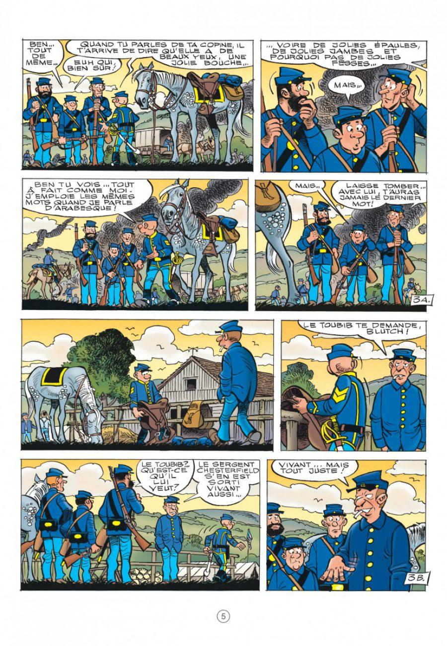 Les Tuniques Bleues 60, Carte blanche pour un bleu, Cauvin, Lambil, dupuis-page5-1200