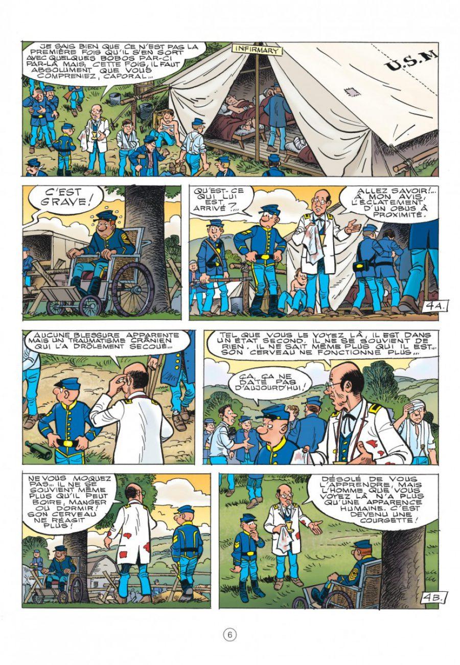 Les Tuniques Bleues 60, Carte blanche pour un bleu, Cauvin, Lambil, dupuis-page6-1200