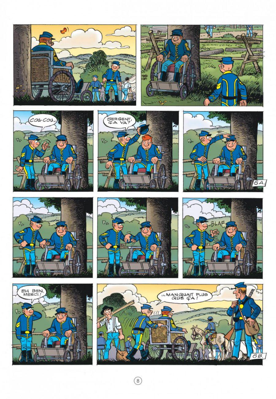 Les Tuniques Bleues 60, Carte blanche pour un bleu, Cauvin, Lambil, dupuis-page8-1200
