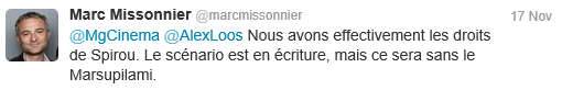 Marc Missonnier Tweet