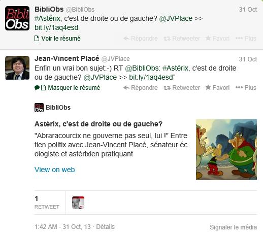 Placé Asterix