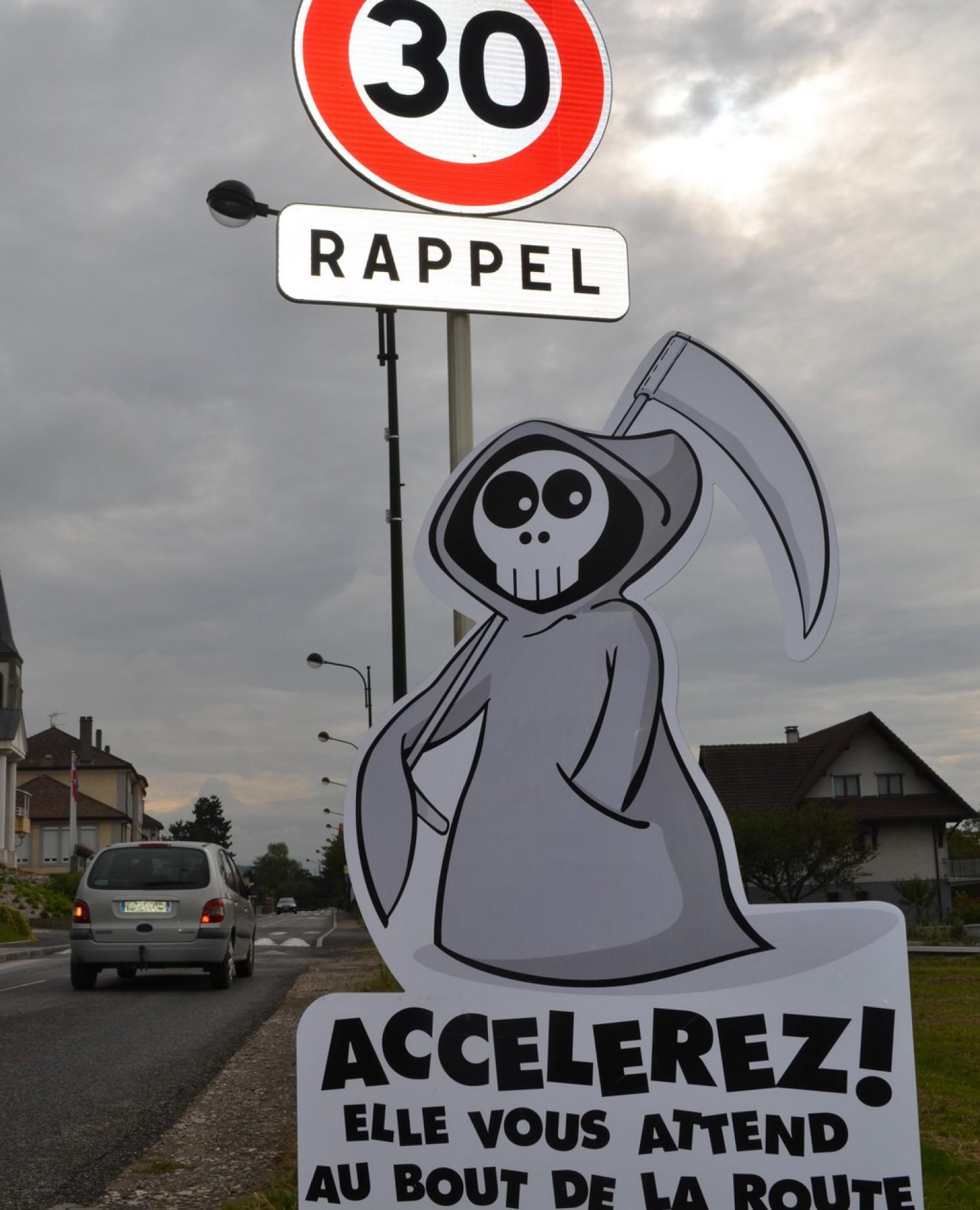Lutte contre la vitesse – Saint-Cergues – Ankou