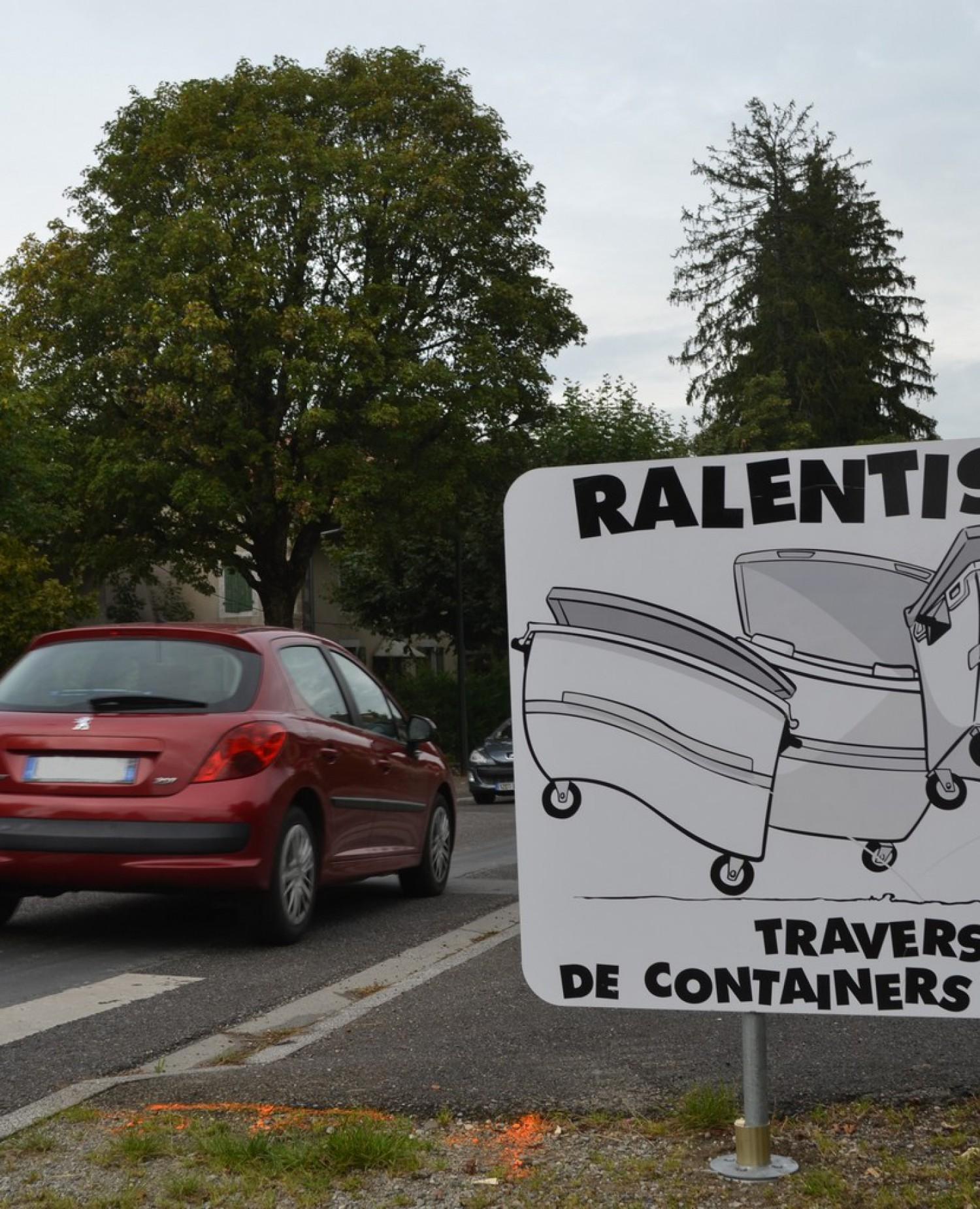 Lutte contre la vitesse – Saint-Cergues – Containers