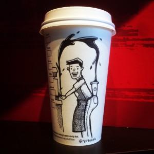 Josh Hara - Dessin Mugs Starbucks - @yoyoha
