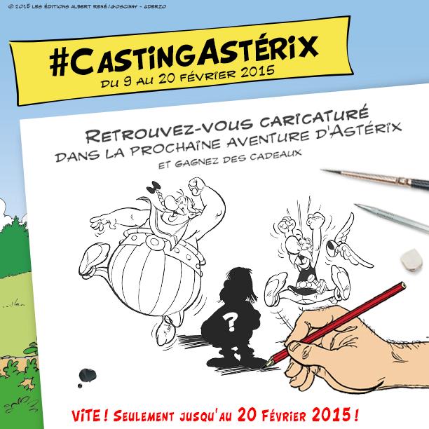 Casting Astérix - Editions Albert Réné - Didier Conrad Jean-Yves Ferri