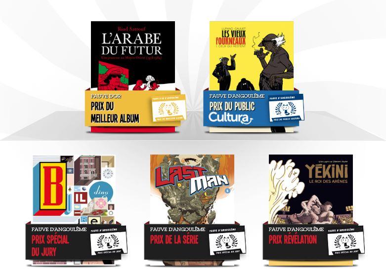 Palmarès du 42ème Festival International de la BD Angoulême 2015
