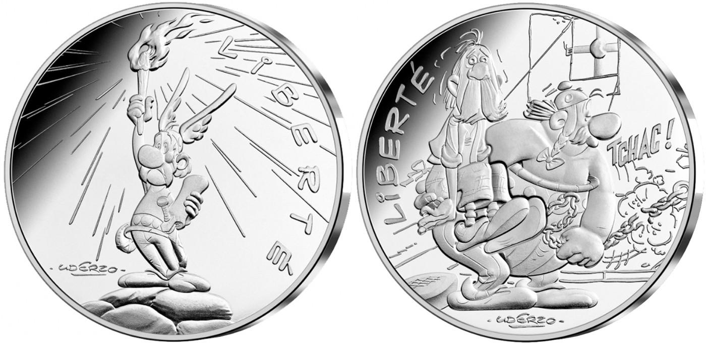 Les valeurs de la République – La Liberté – La Monnaie de Paris – Astérix