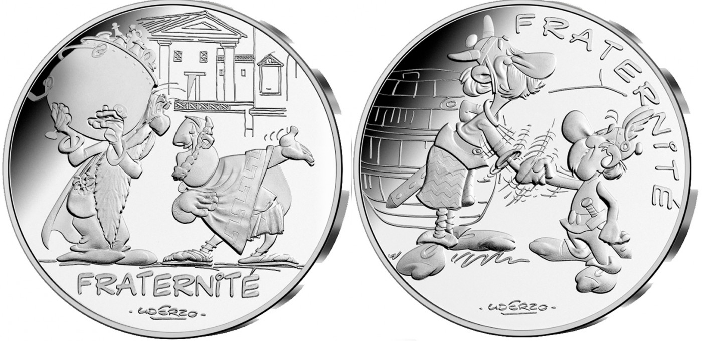 Les valeurs de la République – La Fraternité – La Monnaie de Paris – Astérix