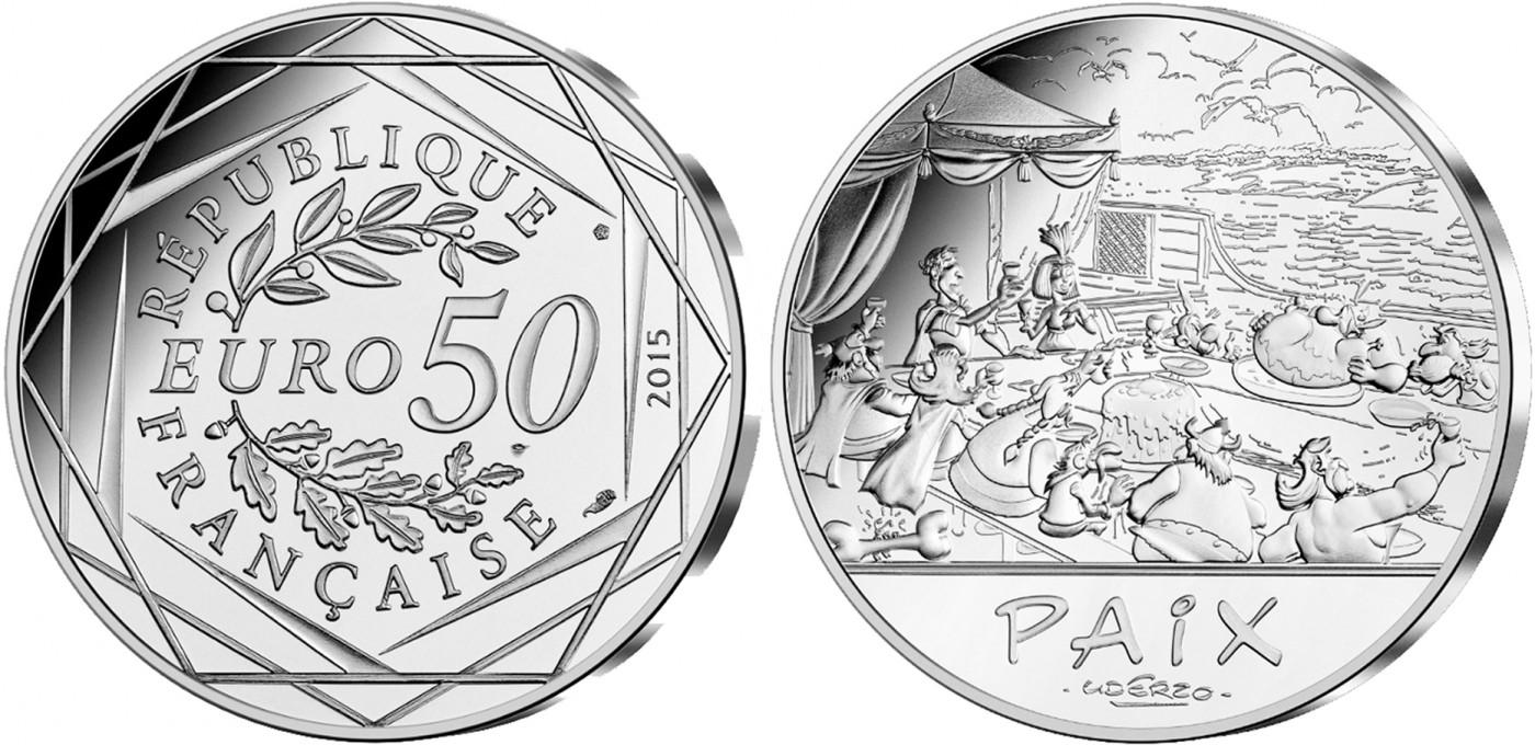 Les valeurs de la République – La Paix – La Monnaie de Paris – Astérix