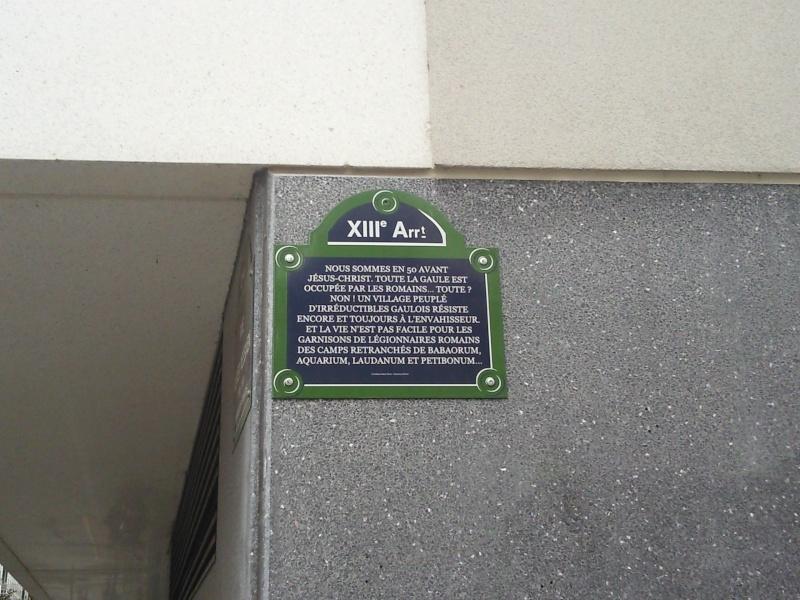 Rue René Goscinny - 75013 Paris - Hommage au scénariste