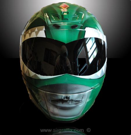 Casque Super Héros - Power Ranger Vert - Air Graffix