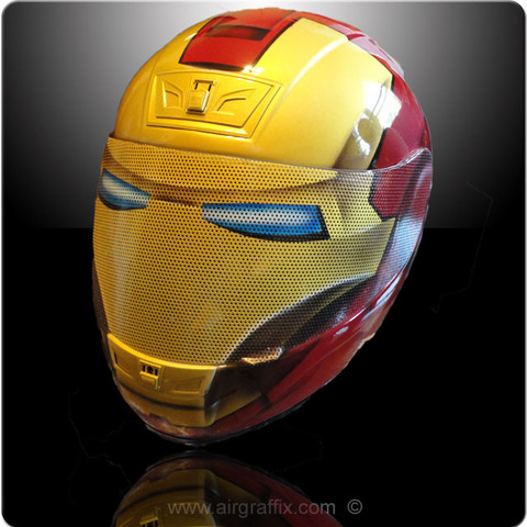 Casque Super Héros - Iron Man - Air Graffix