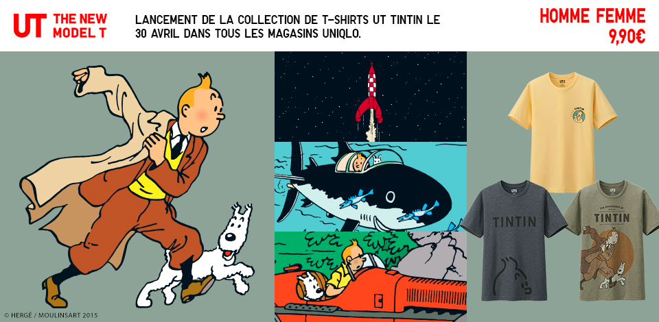 Collection Tintin - Uniqlo - Moulinsart
