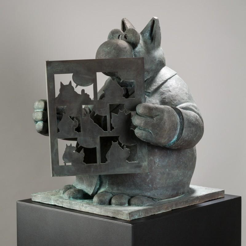 Philippe-Geluck-Bronze
