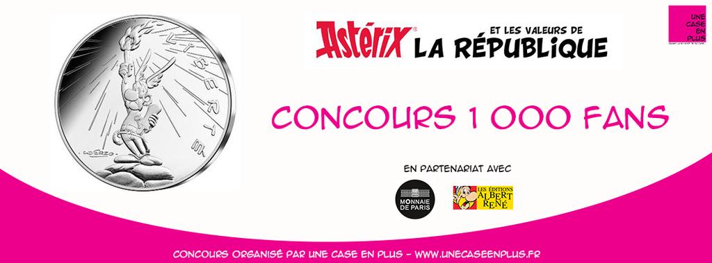 Une case en plus - Concours 1000 fans - Astérix - Monnaie de Paris