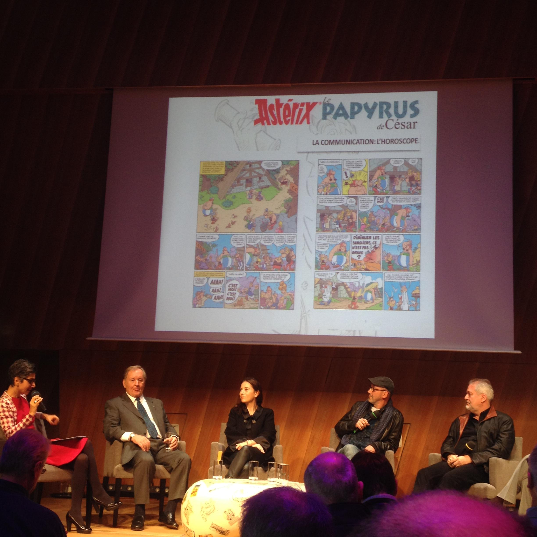 Conférence de presse - Astérix #36 - Le Papyrus de César - Conrad - Ferri - Albert René