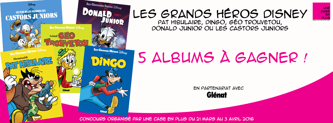 Les grands héros Disney, le concours, Glénat