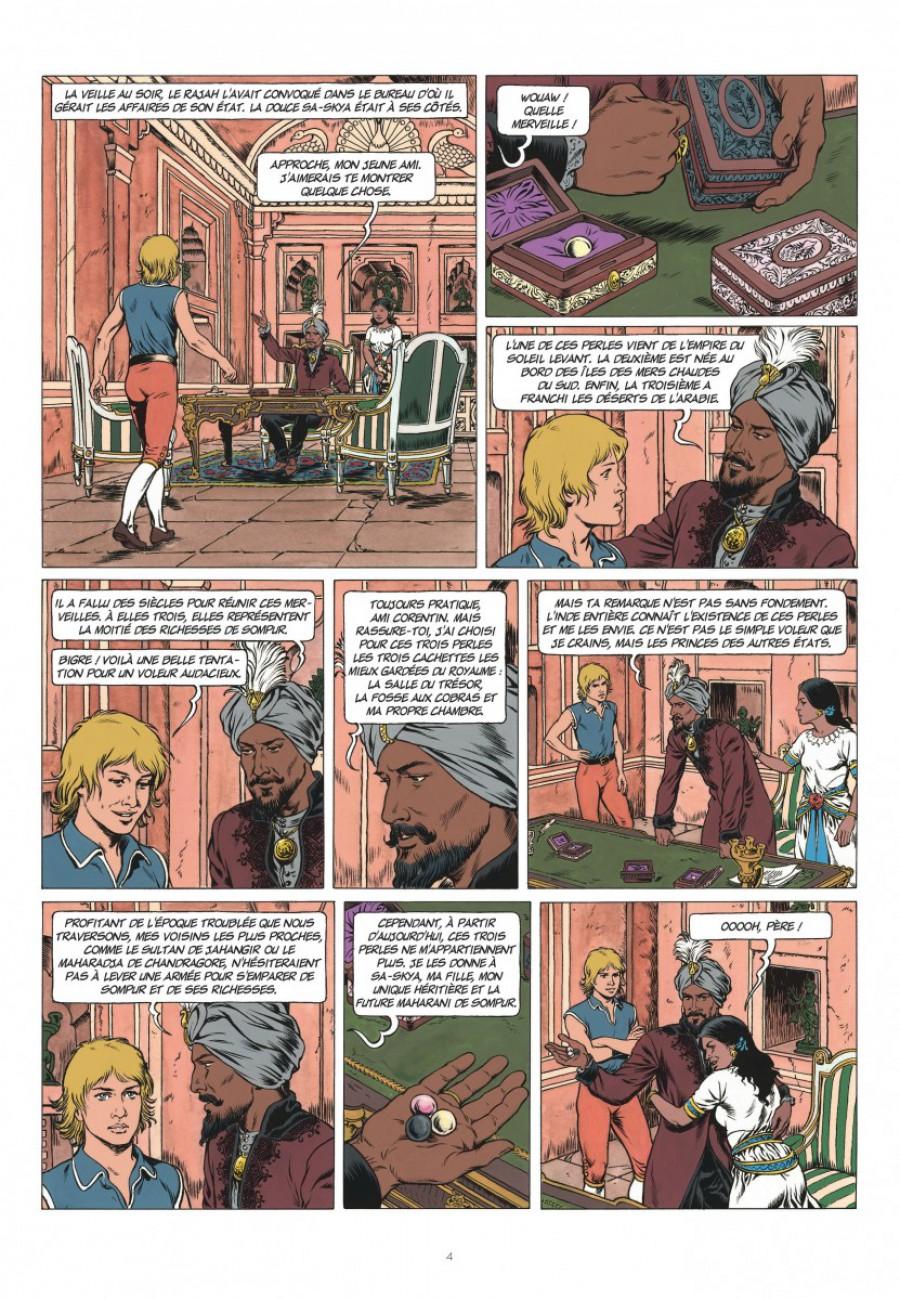 Corentin, les trois perles de Sa-Skya, le lombard, Jean van hamme, christophe Simon-page4-1200