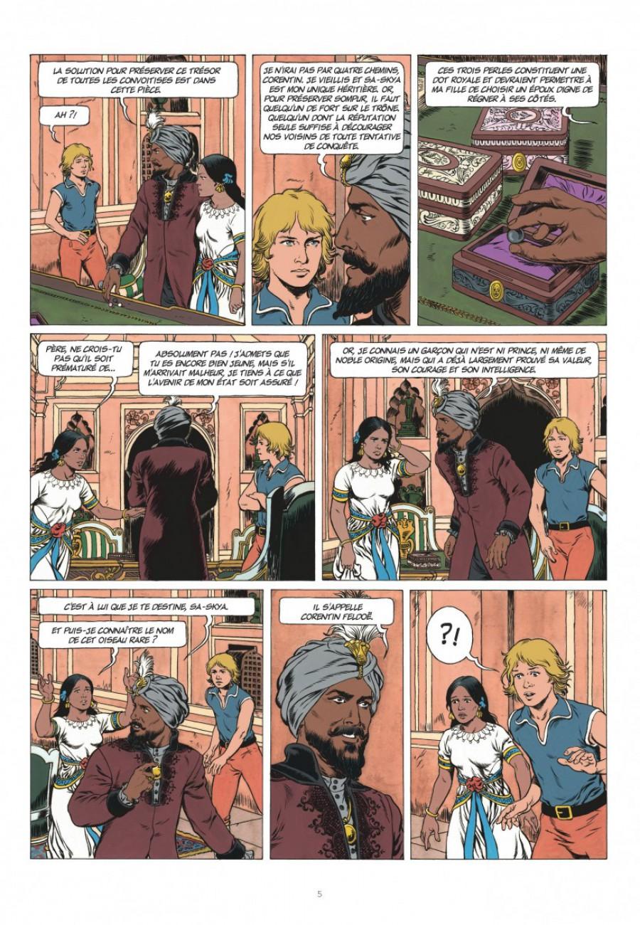 Corentin, les trois perles de Sa-Skya, le lombard, Jean van hamme, christophe Simon-page5-1200