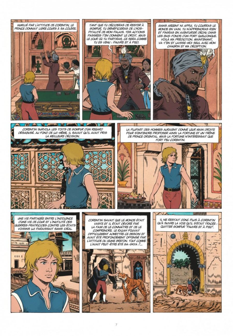 Corentin, les trois perles de Sa-Skya, le lombard, Jean van hamme, christophe Simon-page7-1200