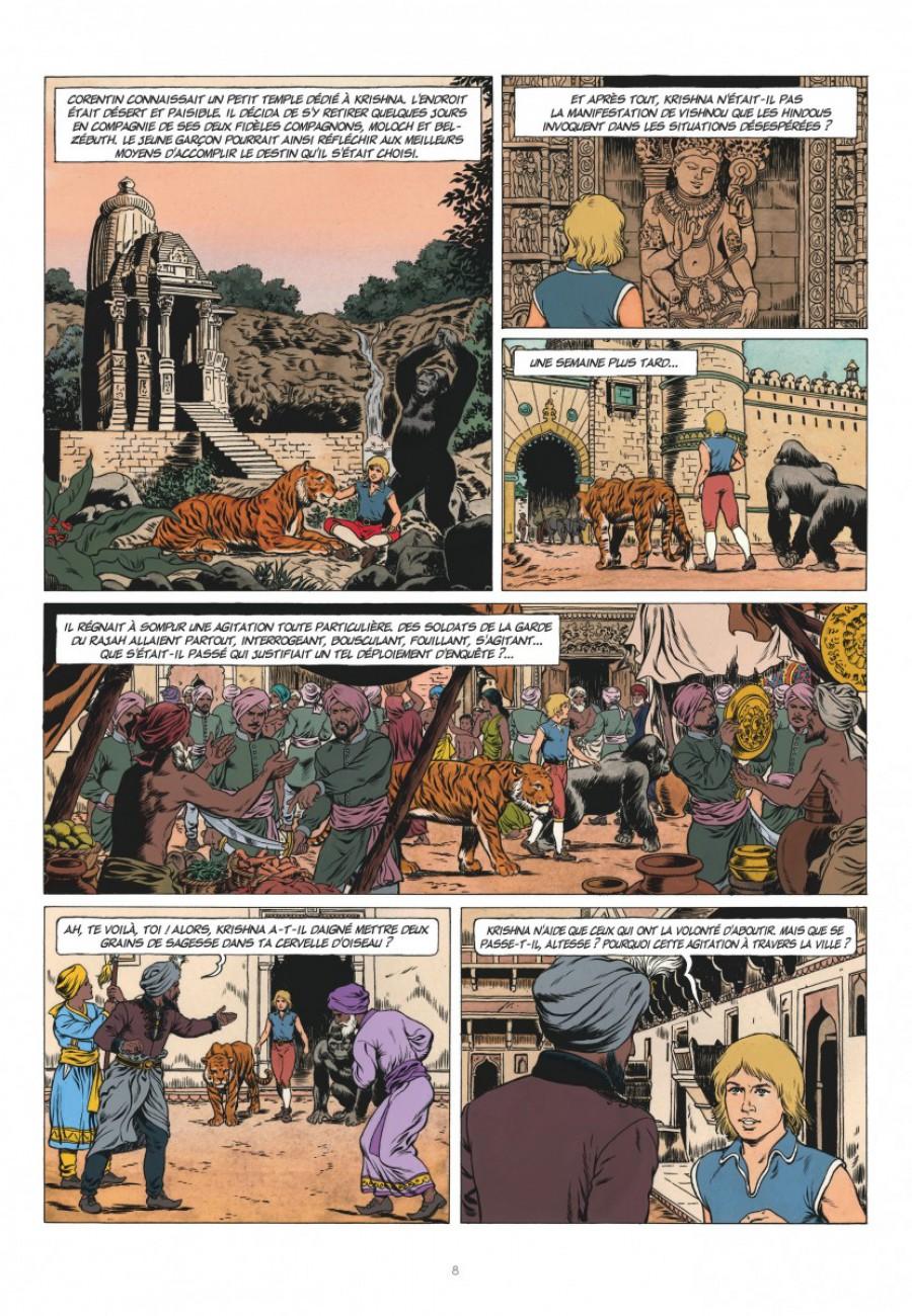 Corentin, les trois perles de Sa-Skya, le lombard, Jean van hamme, christophe Simon-page8-1200