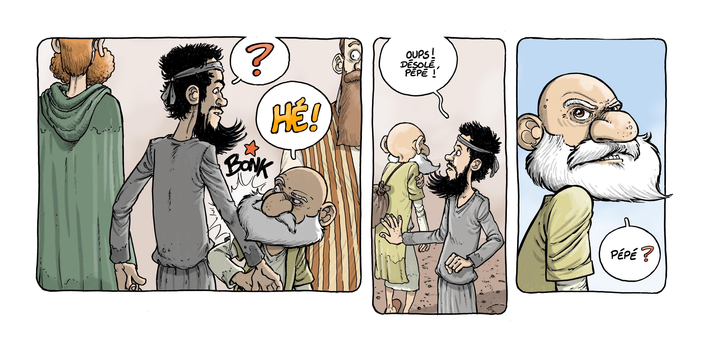 stip Moshé Jonas - Dans la case, David Ratte, Editions Paquet, Le voyage des Pères 4, Barabbas