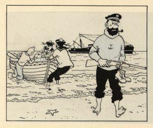 Dans la case, Hergé, Le trésor de Rackam le rouge, Moulinsart, Castrman
