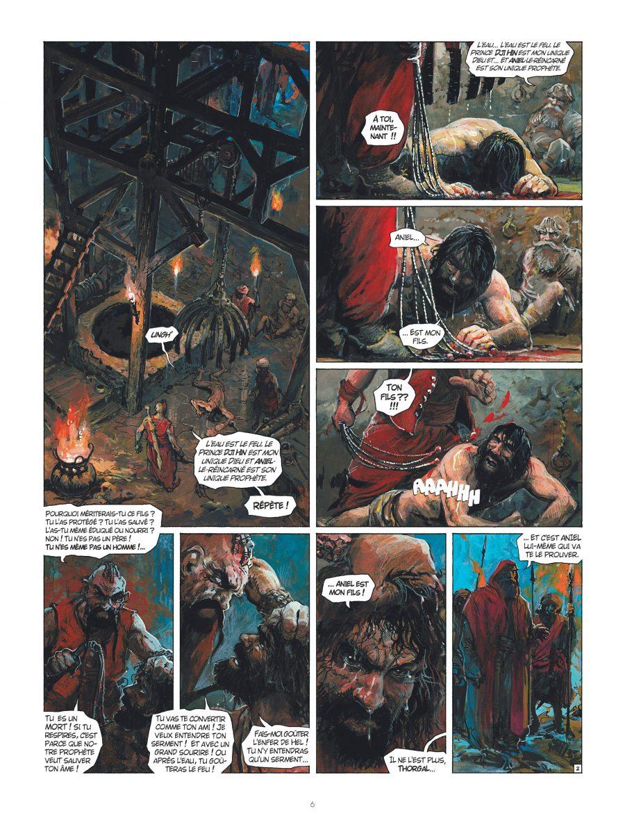 Préview Thorgal #35, le feu écarlate, Le lombard, Xavier Dorison, Rosinski