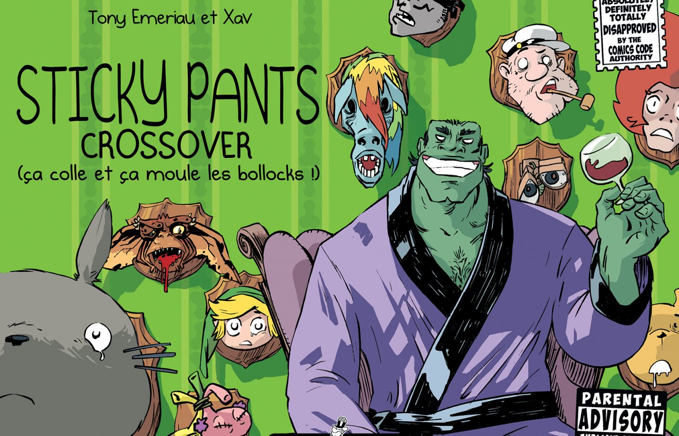 Sticky Pants #3, Crossover, Tony Emeriau, Xavier Henrion, Monsieur Pop Corn