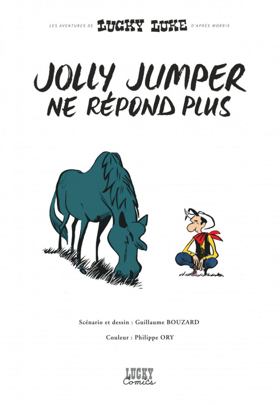 Lucky Luke, Jolly Jumper ne répond plus, Dargaud, Bouzard-page1-1200