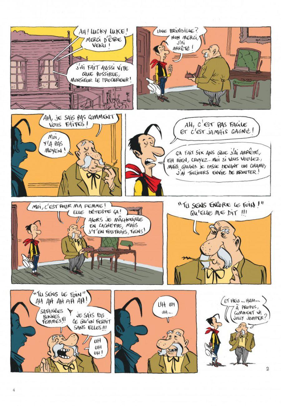 Lucky Luke, Jolly Jumper ne répond plus, Dargaud, Bouzard-page4-1200