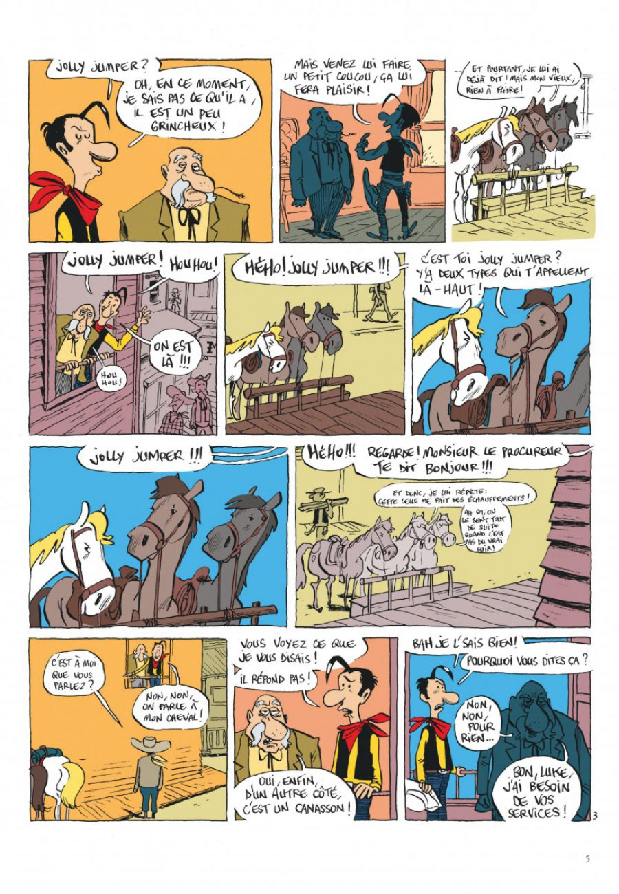 Lucky Luke, Jolly Jumper ne répond plus, Dargaud, Bouzard-page5-1200