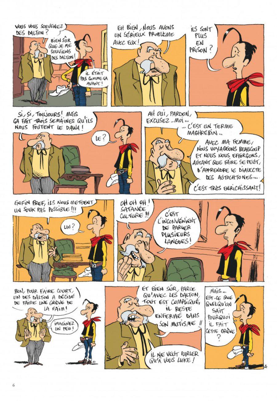 Lucky Luke, Jolly Jumper ne répond plus, Dargaud, Bouzard-page6-1200