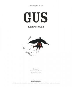 Gus #4, Happy Clem, Christophe Blain, Dargaud