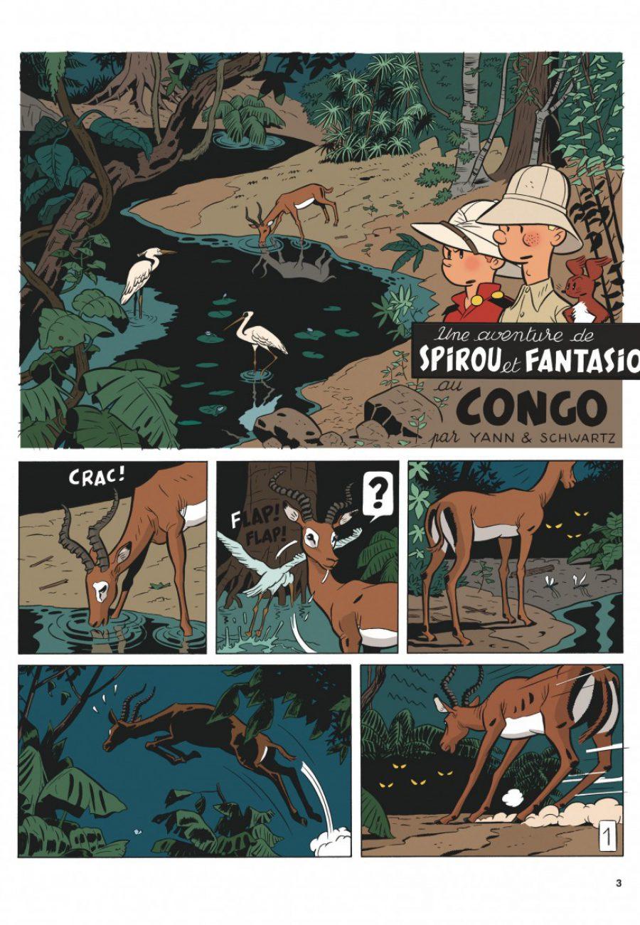 Preview, Le Spirou de 11, Le Maitre des hosties noires, Yann, Schwartz, Dupuis-page3-1200
