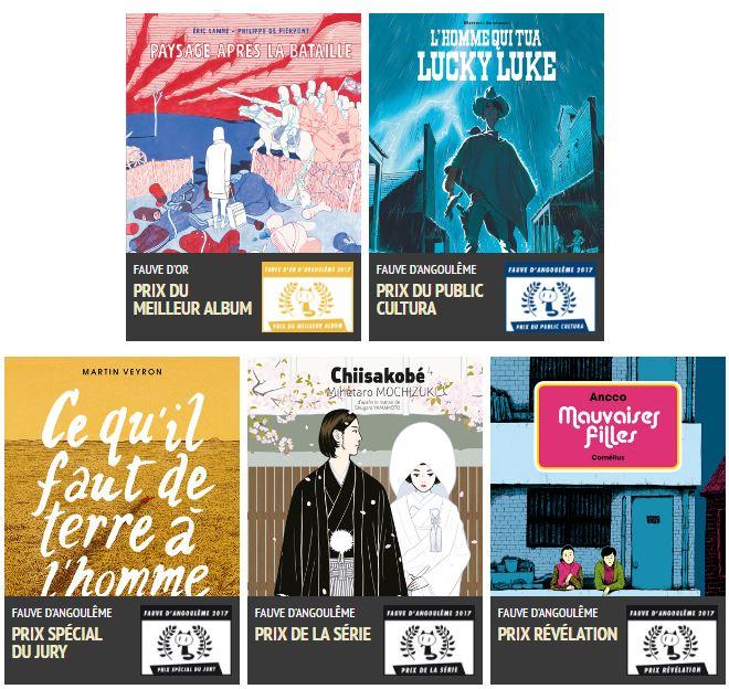 Palmarès 44e Festival International de la BD d'Angoulême (2017)