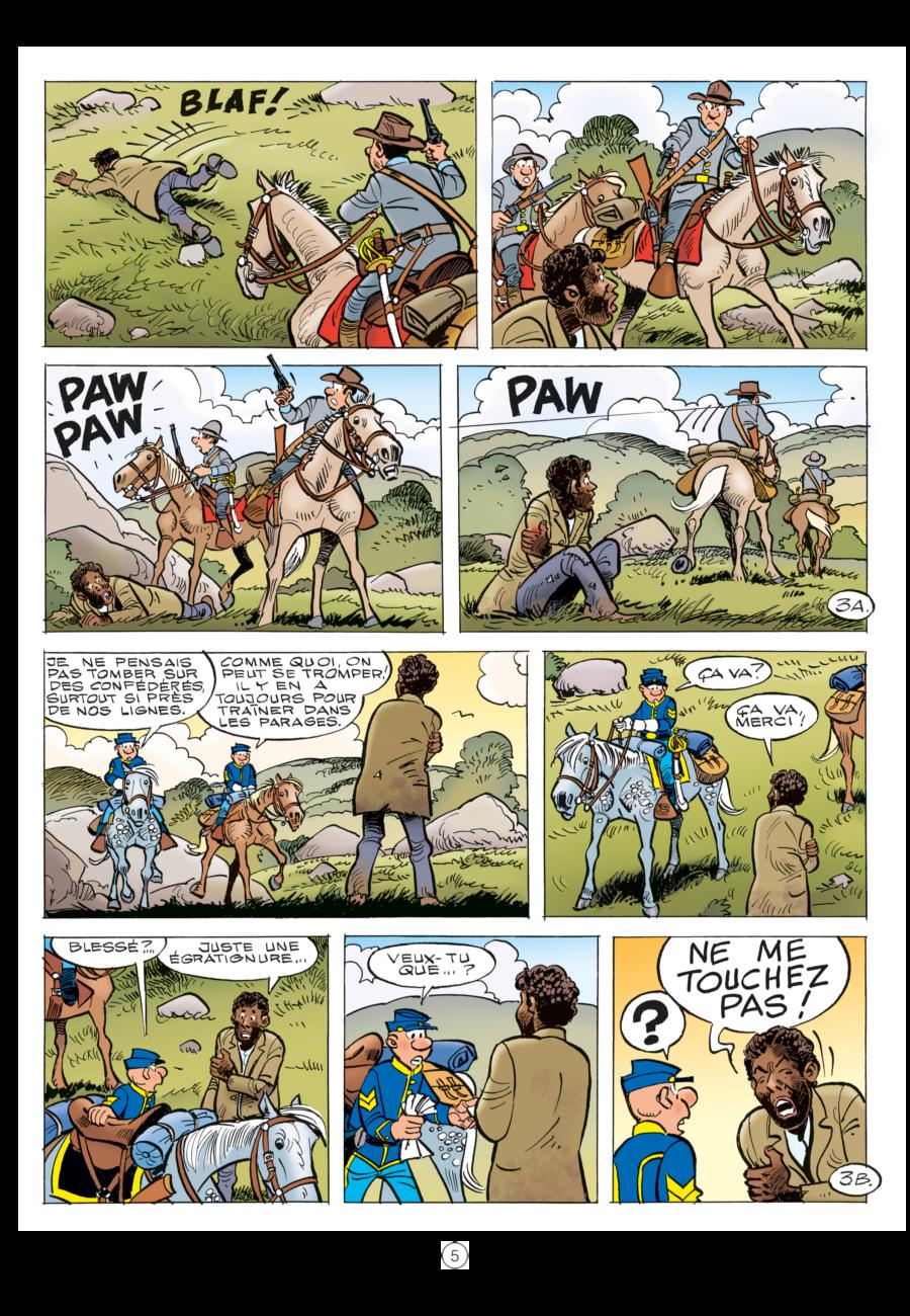 Les Tuniques Bleues, L'étrange soldat Franklin, Dupuis, Cauvin, Lambil