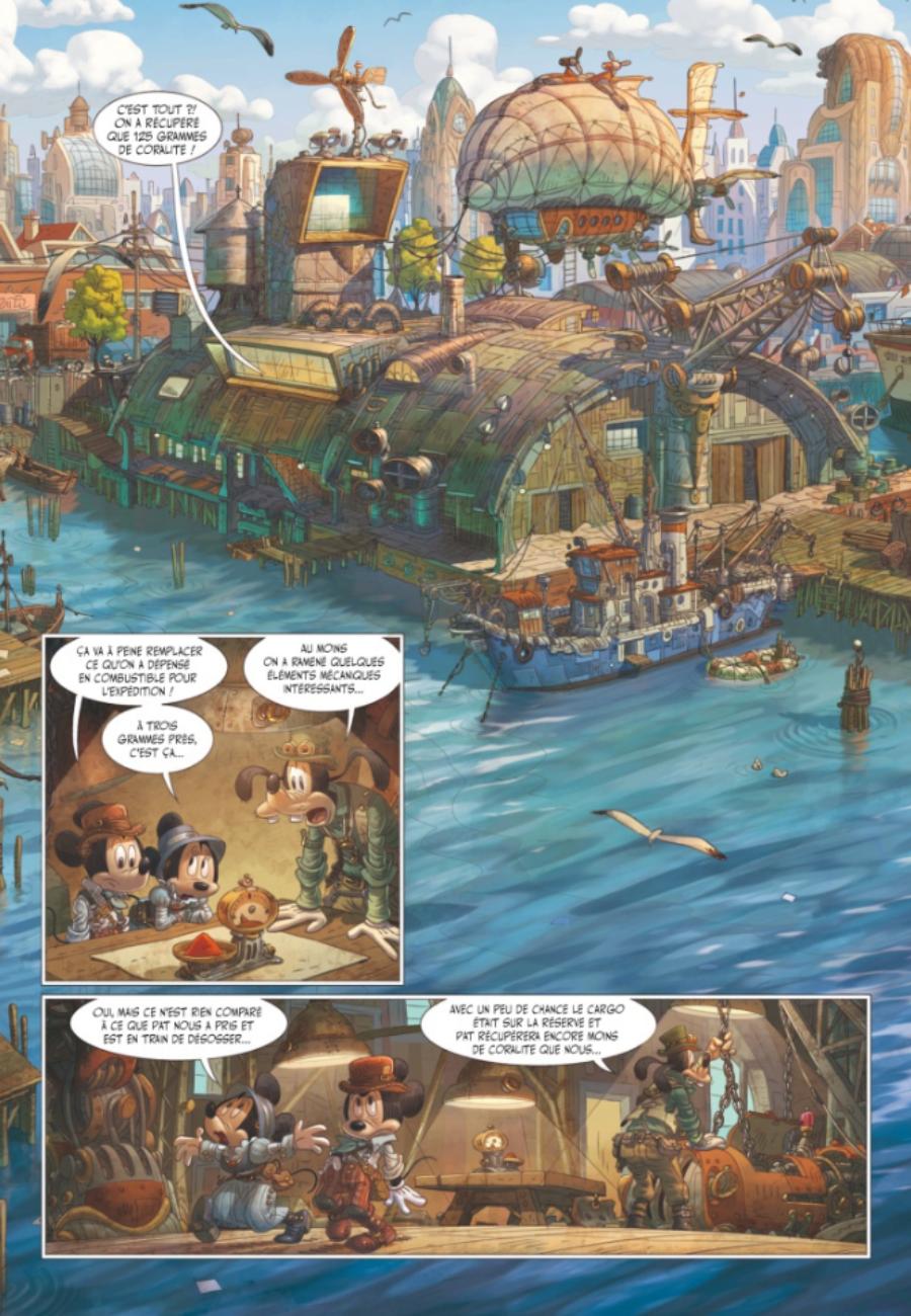 Mickey et l'océan perdu, Glénat, Filippi, Camboni