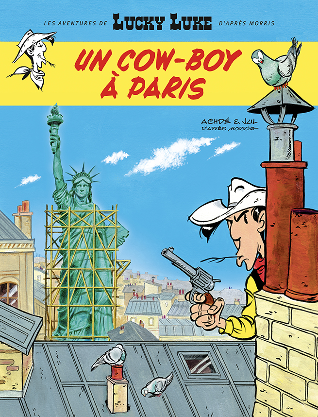 Lucky Luke est un cowboy à Paris, Dargaud, Jul, Achdé