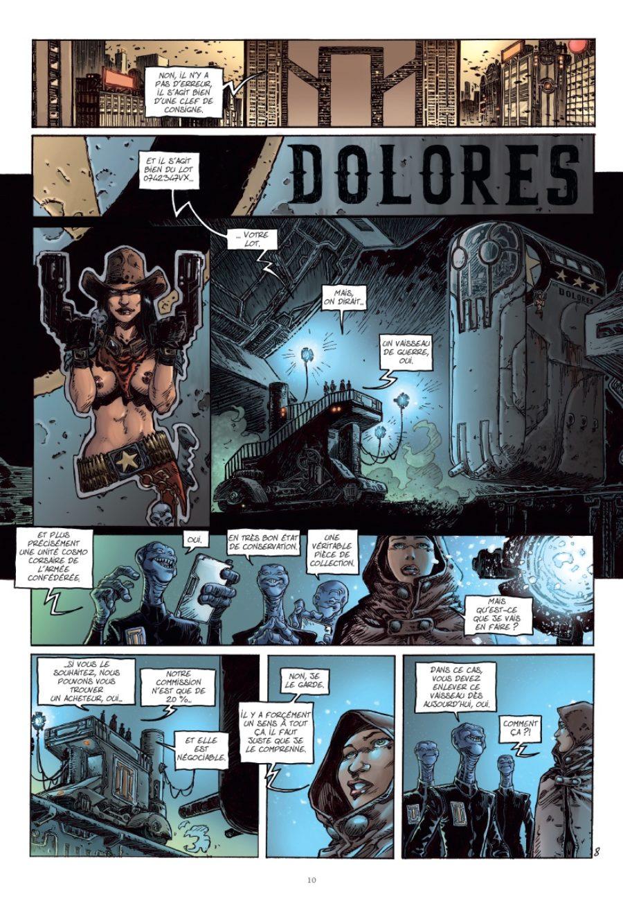 UCC Dolores #1, La trace des nouveaux pionniers, Tarquin, Glénat