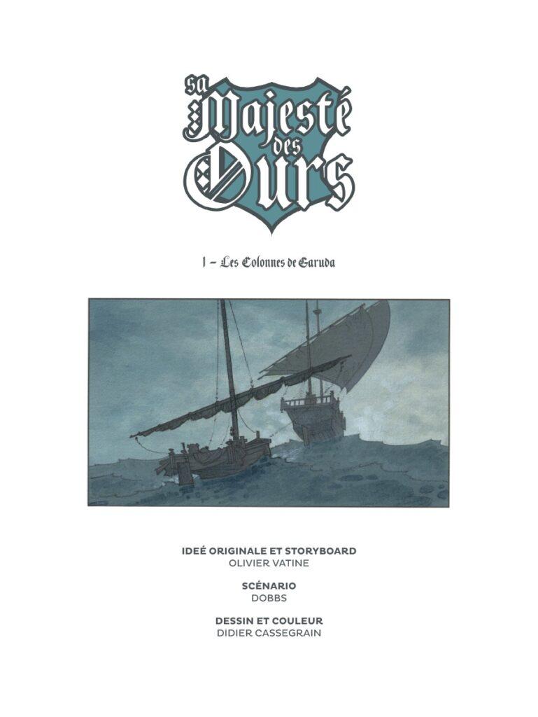 SA majesté des ours #1, Glénat, Dobbs, Vatine Cassegrain